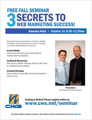 Free Fall Seminar Seating Still Available