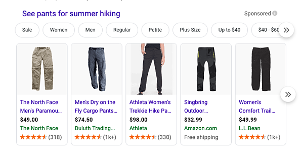 pants-for-summer-hiking-google-shopping-example