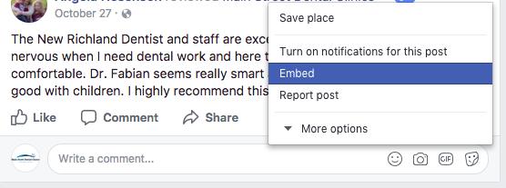 Embed Facebook Reviews
