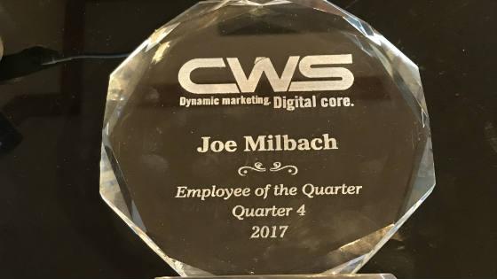Joe's Employee of the Quarter Award