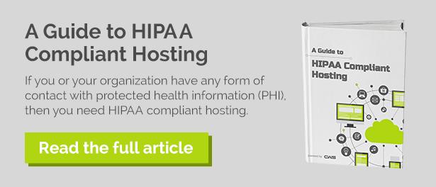 A Guide to HIPAA & PCI Compliant Hosting